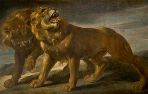 deux lions by sir peter paul rubens