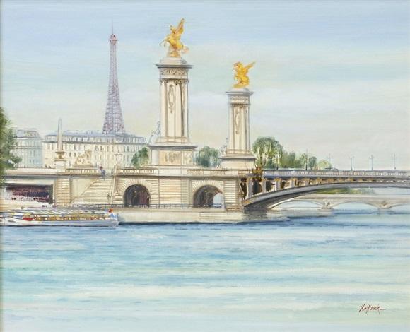 paris le pont alexandre ii by h rolf rafflewski