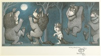 two inscribed wild thing drawings (2 works) by maurice sendak