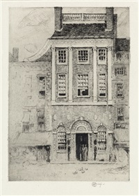 the athenaeum, portsmouth by childe hassam