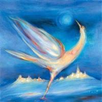oiseau au paysage by rené smet