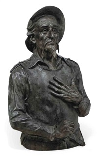 bust of don quixote by fredy balthazar stoll