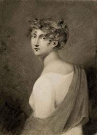 femme en buste de trois quart (recto/verso) by étienne charles leguay