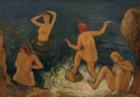the bathers by bernard karfiol