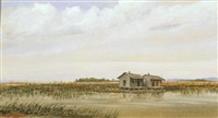 huts on the bayou by edward livingston