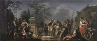 scène mythologique by françois (le moine) le moyne