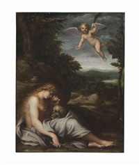 the penitent magdalene by agostino carracci