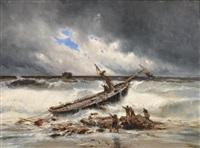 bateaux dans la tempête by eugénio amus