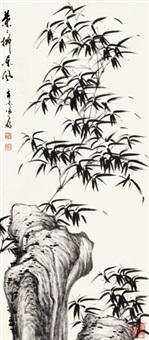竹石 立轴 水墨纸本 by xu zihe