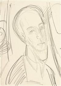 porträt hugo biallowons by ernst ludwig kirchner