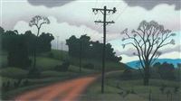 telegraph poles and dirt road outskirts of tumut by reg mombassa