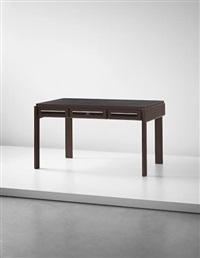 rare desk, designed for the offices of compagnie parisienne de distribution d'électricité s.a., paris by jean prouvé