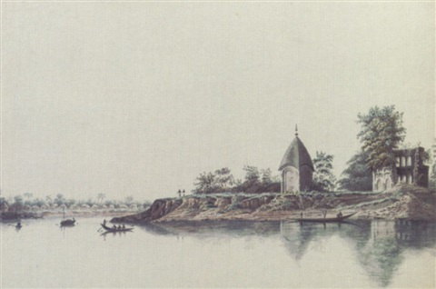 a hindu village called commercolly with two hindu temples on the bank by hubert cornish