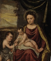 the madonna and child with the infant saint john the baptist by francesco brini