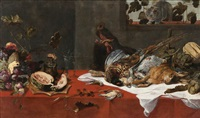 nature morte avec chat by frans snyders