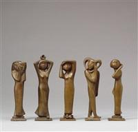 mädchen mit maske (+ 4 others; 5 works) by kurt lehmann