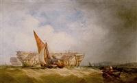 hulks at anchor by alfred herbert