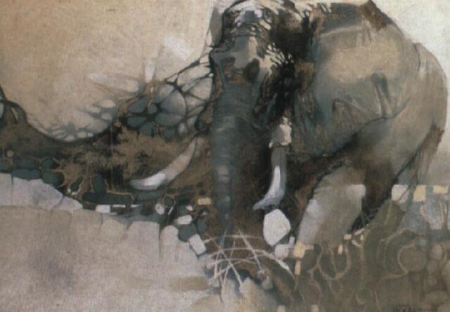 a bull elephant by keith joubert