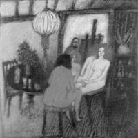 conversation devant le miroir by marco richterich