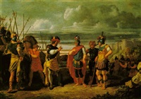 claudius civilis conversing with the commander of the roman army by frans de jong