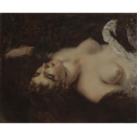 femme nue by gustave courbet