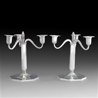 candelabras (pair) by erik fleming