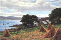 the village from the cornfield by john james bannatyne