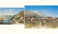 scène orientale (+ another similar; pair) by louis tesson