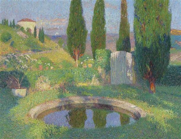 bassin dans le parc de marquayrol avec latelier dhenri martin by henri jean guillaume martin