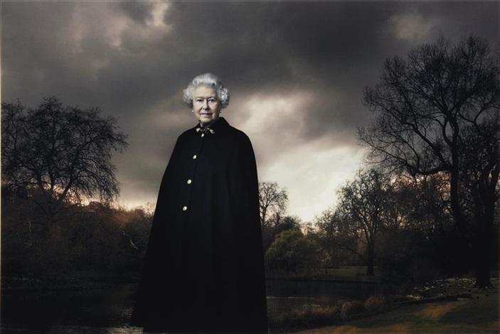 queen elizabeth ii, buckingham palace, london by annie leibovitz