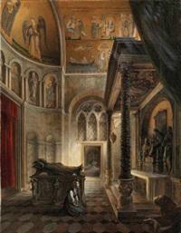 interno della cappella zen in san marco a venezia by vincenzo abbati