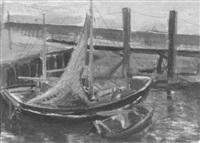 fischerboot im hafen by erich fischer