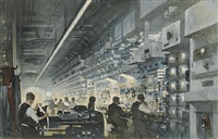 a radio-telephone control room by thornton oakley