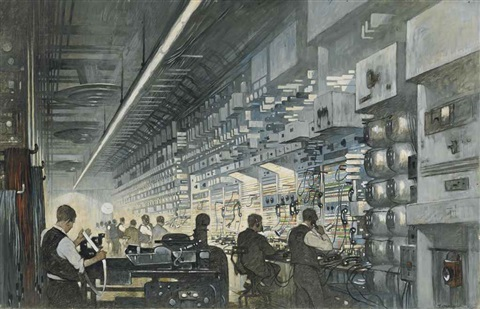 a radio telephone control room by thornton oakley