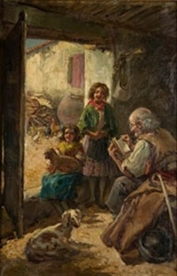familia de campesinos by eugenio oliva rodrigo