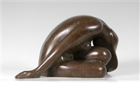resting woman by haim azuz