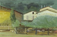pig farm, umbria, italy by niccolo d'ardia caracciolo