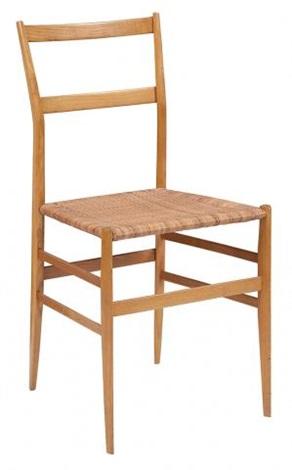 Gio Ponti Ash And Cane Superleggera, Chair By Gio Ponti