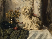 le chien à table by hermann courtens