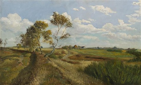 path through the field by hermann herzog
