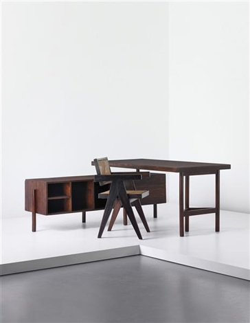 writing table for junior officers, designed for the secrétariat and administrative buildings, chandigarh by pierre jeanneret