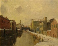 morris canal, newark, nj by gustave wolff