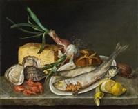 küchenstillleben mit sprotten und käse by matthias rudolf toma
