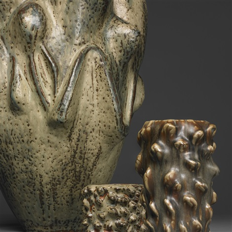important and monumental budding gourd vase by axel johann salto