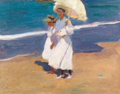 en la playa (by the seaside) by joaquin sorolla y bastida