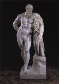 figure of the farnese hercules by pieter gallis