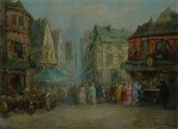 le marché à rouen by a. de gerville