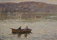 evening, middle harbour by robert richmond campbell