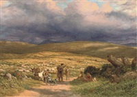 on the moor by james thomas linnell