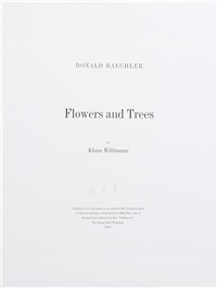 flowers and trees (a suite of 6 works) by donald baechler
